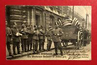 Militär AK ANTWERPEN 1. WK 1915 Deutsche Landsturm Soldaten mit Fuhrwerk ( 63215