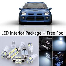 6X Bulbs LED Interior Lights Package kit For 2003-2005 Dodge Neon SRT4 White NQ