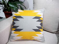 """18""""x45cm Yellow Black Grey Cotton Linen Decor Cushion cover Pillowcase"""