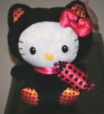 Ty Beanie Baby ~ HELLO KITTY in BLACK CAT Halloween Costume -MINT with MINT TAGS