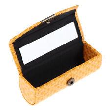 High Grade Leather Lipstick Holder Case Organizer Box w/ Mirror for Purse