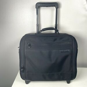 Briggs & Riley Compact Rolling Briefcase Carry On Black