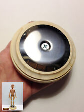 "M01041 Morezmore Steel Plate on 4"" Round Wooden Base for Magnet Doll Feet Izb"