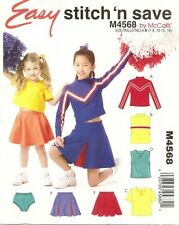 Sewing Pattern McCall's EASY STITCH M4568  CHEERLEADING CHEERLEADER GIRLS 4 5 6