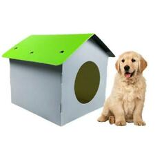 Plastic Dog Kennel Pet Cat House Weatherproof Indoor Outdoor Shelter