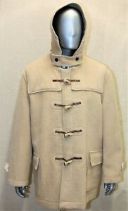 Duffle coat homme GLOVERALL Dolomite VTG laine beige 46US 56EUR made in England