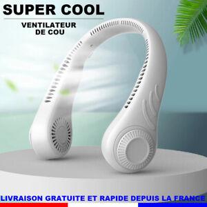 Mini Ventilateur USB Portable Ventilateur de Cou Rechargeable Avec 3 Vitesses