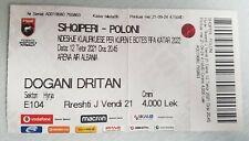 Sammler Used Ticket 2022 Fifa World Cup Q Albania - Poland Polska Polen 12.10.22