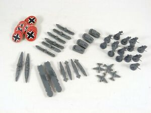 Axis & Allies Game Pieces German Ships Troops Tanks Planes Markers MB ©1984-87