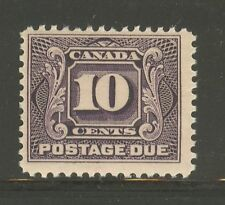 Canada #J5, 1928 10c Postage Due - First Postage Due Series, Unused