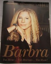 BARBRA STREISAND 2016 - 2017 CONCERT TOUR PROGRAM....
