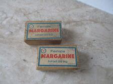 2 vecchie legno più raffinate margarina scatole per il Kaufmann caricamento