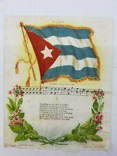 Cuba Flag & Folk Song Nebo Cigarette Tobacco Silk 5-3/4x7 Factory No.7