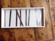 J Fleet Design 2 Drink  Tray Bamboo Grove White and Silver
