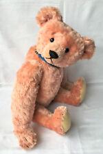 "Stier Bears Teddy 22"" Kathleen Wallace LE #111/150 ""Wally"" Pink Wavy Mohair 1991"