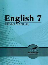 A Beka English 7 Video Manual & Home Teacher Materials - 7th Grade