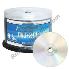 300 Optical Quantum 8x 8.5GB DVD+R DL Double Layer Silver Top Disc OQDPRDL08NPS