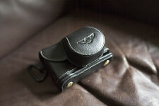 Genuine Real Leather Full Camera Case Bag Cover for FUJIFILM X100F Bottom Open B