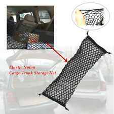 Car Black Elastic Nylon Rear Cargo Trunk Storage Net Mesh Adjustable Pocket