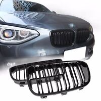BMW F20 F21 11 - 15 gloss black front kidney grilles grille twin double spoke
