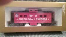 NFL Superbowl Express Caboose Ho Train Car NFL