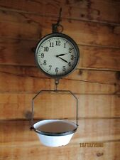 Clock with scale home decor, used