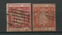 SHIPPING TO EU ONLY: Lot Spain 1854, used, combine shipping 1603