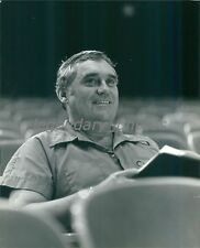 1982 Christopher Hewett Sits in Theater Chair Original News Service Photo