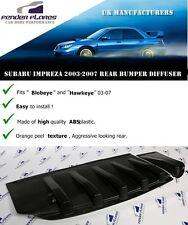 Subaru Impreza Difusor Splitter 03-07 wrx sti blobeye Hawkeye Para Parachoques Trasero
