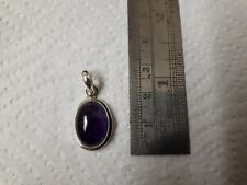 Beautiful Sterling silver and amethyst pendant