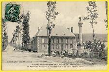 cpa CHAMPAUBERT (Marne) Route de la LIBERATION Colonne Bataille NAPOLÉON 1814