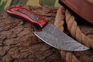 MH KNIVES CUSTOM HANDMADE DAMASCUS STEEL FULL TANG HUNTING/SKINNER KNIFE D-71H
