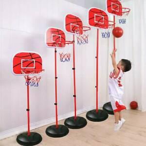 170cm Free Standing Basketball Hoop Net Kids Backboard Stand Rack Set Adjustable