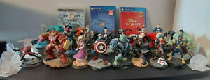 Disney Infinity Lot 26 Figures 1.0 2.0 3.0 Box Set Marvel PS3 & PS4