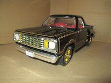 DODGE pickup 1978 adventurer Warlock black stepside ERTL 1/18 no mirrors