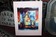 Superb Saeed Danosians Abstract Art Lithograph Print-Signed-Dolphins Building