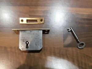 Antique Music Box Reclaimed lock with key