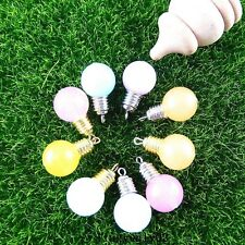 9pcs Colorful light bulb Plastic + Alloy Charms Pendant Jewelry Crafts 51387