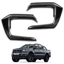 Front Side Bumper Guard Cover Wildtrak Black 2 Pc Fit Ford Ranger T6 2015 - 2017