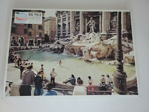 VTG Jaymar Faraway Places 800Pc Puzzle 23x18 Japan Airlines, Fountain of Trevi