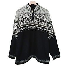 Dale Norway Mens Masc Vail Sweater Black Gray Khaki 100% Wool Size XL