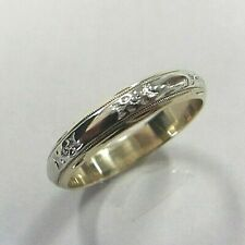 14K Gold, Size 10, 4.2 Grams! Classic Man'S Antique Style Decorative Band,