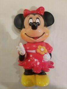 "Vintage Minnie Mouse Piggy Bank Walt Disney Productions 5.75""Made In Korea"