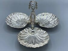 FINE STERLING SILVER 925 CENTERPIECE DECORATED WITH THREE FISHES.