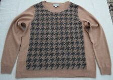 Pure Collection 100% Cashmere Jumper size 16 14 UK Brown