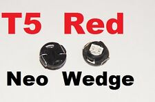 4 X Red T5 Neo Wedge LED 79607-SHJ-S01 Twist lock Cluster Switch Dash Gauge