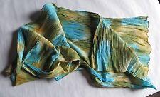 Étole turquoise en coton -