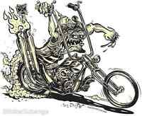 Murdercycle Sticker Decal Kustom  Art Von Franco VF13 Roth Like