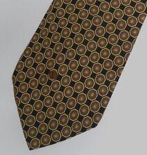 Negro Marrón Foulard Valentino Corbata de Seda 9.9cm Ancho 147cm Largo