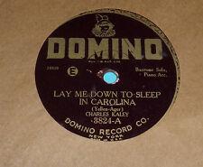 "Charles Kaley Lay Me Down to Sleep in Carolina: Irving Kaufman 10"" 78"